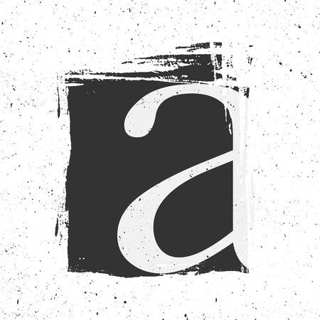 tough: Letter A with grunge black Paint Spot