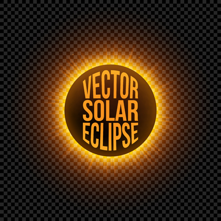 Vector solar Eclipse graphic Element