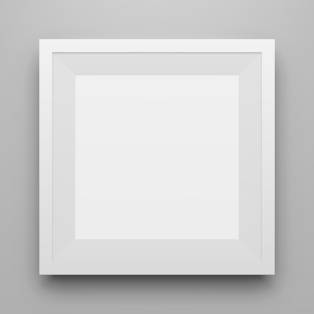pictureframe: White square Picture Frame Mockup with Shadow