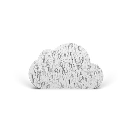mobile apps: Cloud Icon with binary Pattern Stock Photo