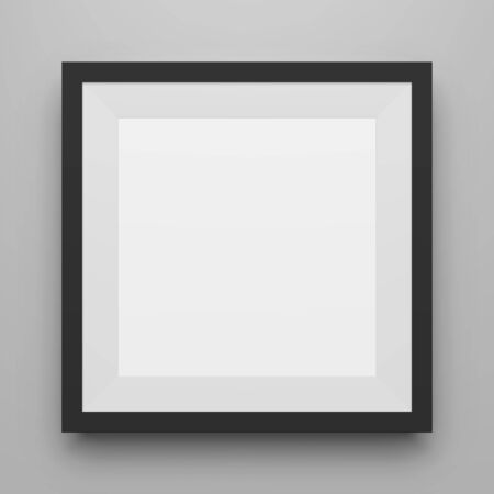 pictureframe: Black square Image Frame Template with Shadow