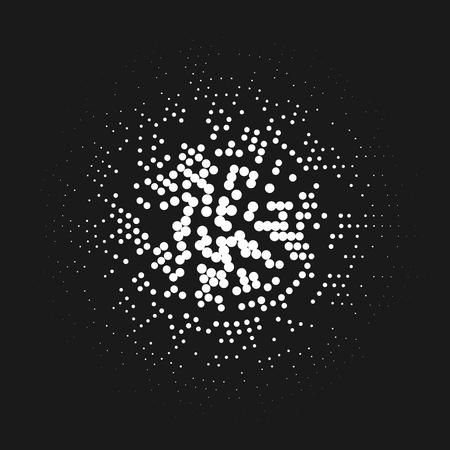 motif de demi-teinte abstraite comme un cadre de lampes