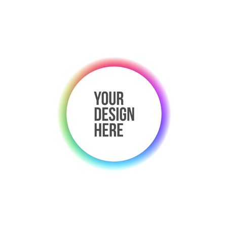 chromatic: Circle Banner with Rainbow Colors