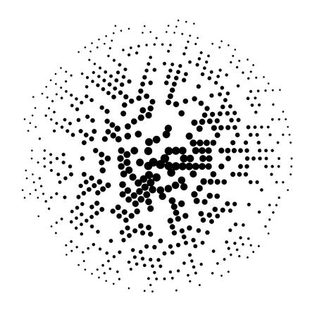 Demi-teintes en pointillés Effet abstrait