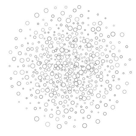 accumulation: Circle Shapes Accumulation Illustration