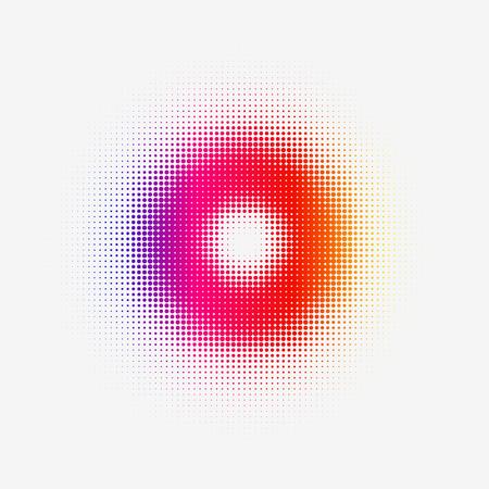 Tono de semitono de colores para web o impresión.