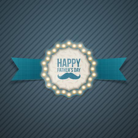 illuminate: Fathers day greeting Card Design