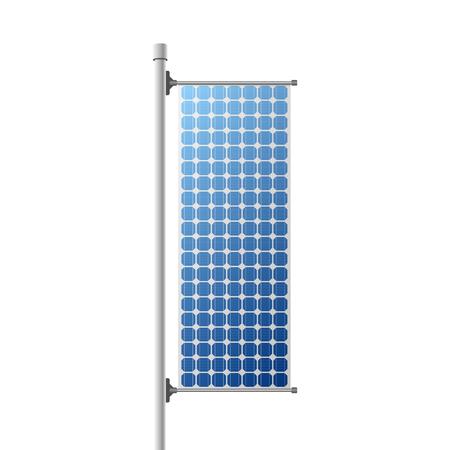 Solar Panel Construction Illustration