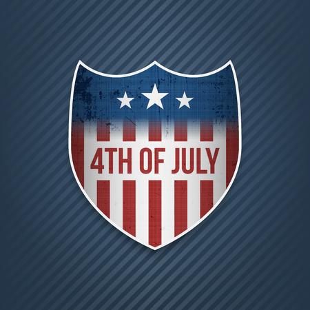 nationalism: Fourth of July Celebration vector Banner