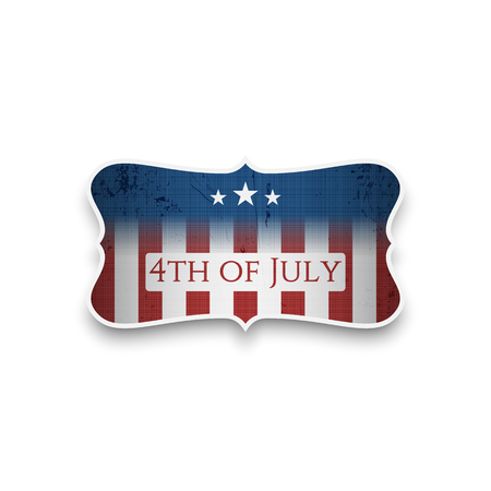 nationalism: Happy 4th of July - Independence Day vector Banner Illustration