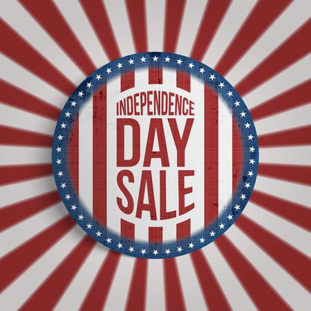 Independence Day Sale circle Gift Card Design Illustration