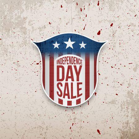 nationalism: USA Independence Day grunge vector Background