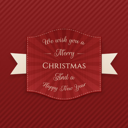 paper note: Vector Merry Christmas festive Badge