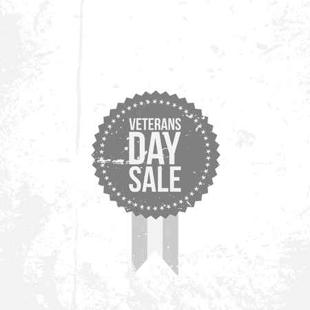 Vintage Banner with Veterans Day Sale Text Illustration