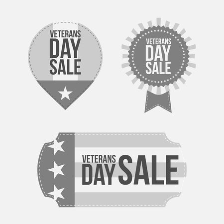 Veterans Day graphic Banners Set Illustration