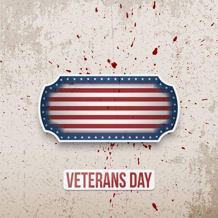 Veterans Day vector illustration. Çizim