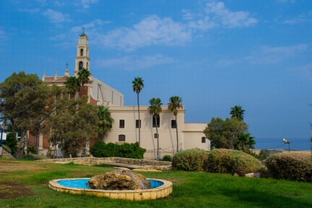Catholic Church of St Peter in Old Yaffo city,Tel Aviv,Israel Stock Photo