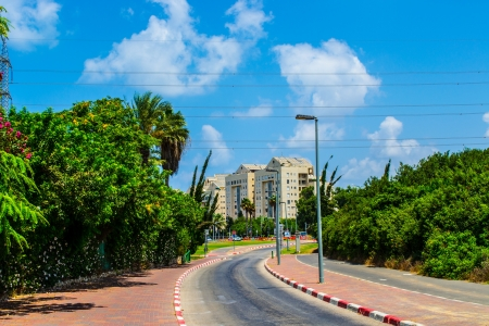 View of street in Tel Aviv,Israel photo