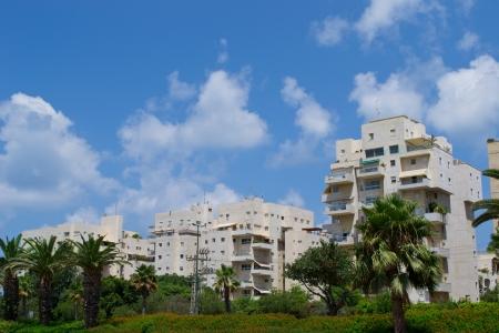 View of  buildings on the Tel Aviv street,Israel