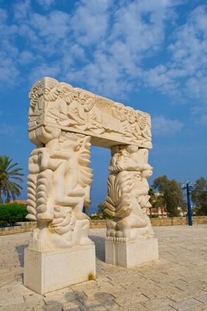 Statue in Jaffa ,Jacob