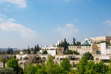 View of Jerusalem city in Israel Stock Photo