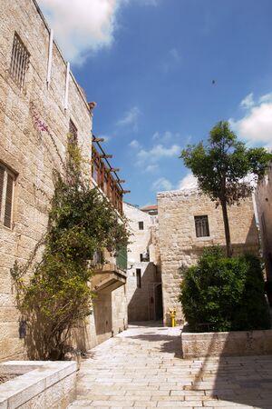 Narrow streets of old city.Jerusalem
