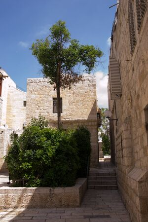 Narrow streets of old city.Jerusalem photo