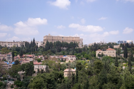 jewish home: View of Jerusalem from old city. Stock Photo