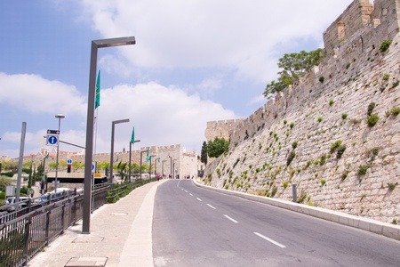 The wall of old Jerusalem.Israel Stock Photo