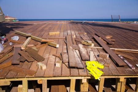 Making wood floors near the beach