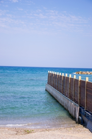 View of Tel Aviv beach  and a closed part Stock Photo