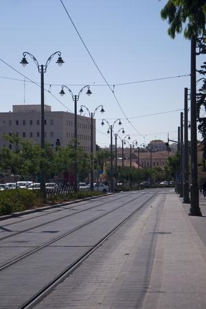 Jaffa street in Jerusalem,Israel