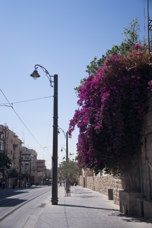 Jaffa street in Jerusalem,Israel photo