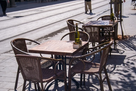 Cafe on Jaffa street in Jerusalem,Israel