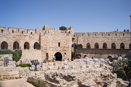 Inside the walls of the old city in Jerusalem