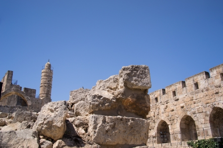 Tower Of David, in Jerusalem old city Editorial