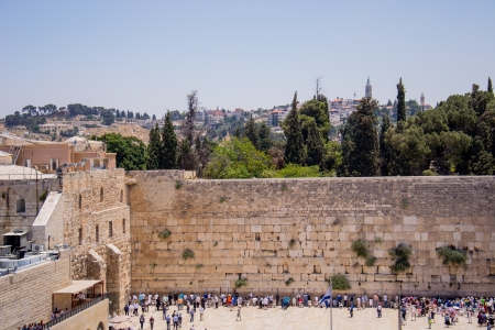 Wailing Wall in Jerusalem,old city Editorial