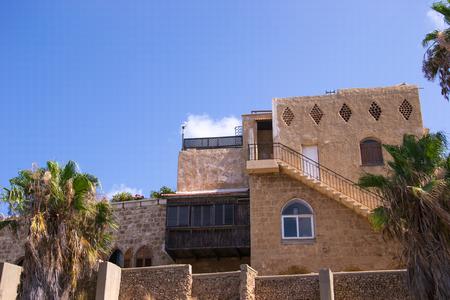 yaffo: Old stone house .Historic part of Yaffo