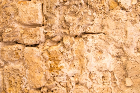 Old and weathered stone wall background,Jaffa