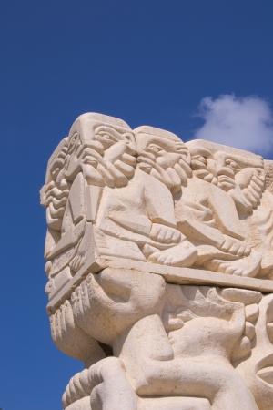 jaffa: Statue of Faith at the Abrasha Park, Jaffa, Israel. Stock Photo