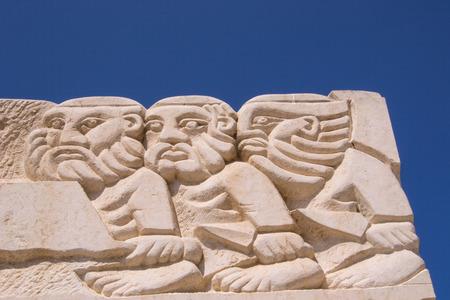 Statue of Faith at the Abrasha Park, Jaffa, Israel. Stock Photo