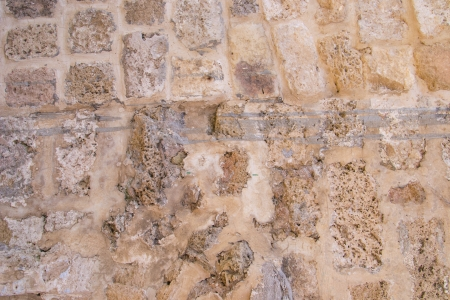 Ancient concrete wall background ,Jaffa,Israel