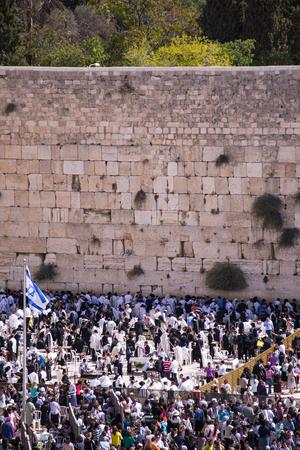People at the Wailing Wall ,Jerusalem Editorial