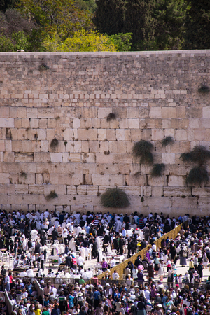 bar mitzvah: People at the Wailing Wall ,Jerusalem Editorial