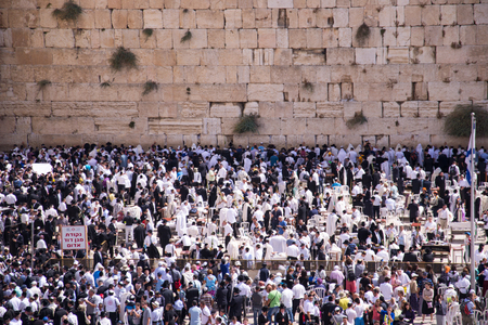 People at the Wailing Wall ,Jerusalem