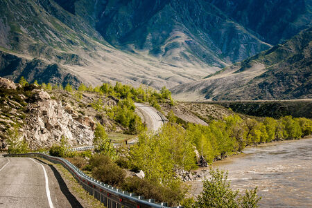 Road in the Altai mountains photo