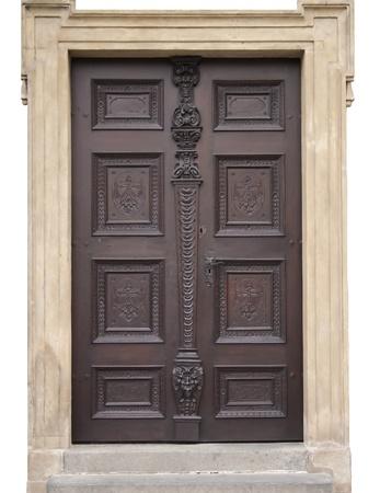 prague castle: antique Door