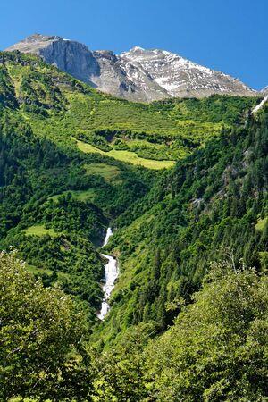 Snow top of Grossglockner, the highest Austrian mountain