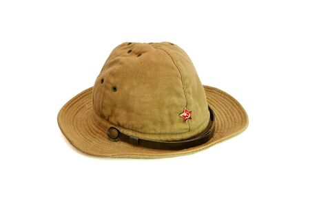 Old soviet army summer hat isolated Stock Photo - 5220709