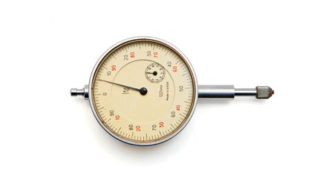 Vintage Soviet-made medical manometer isolated on white background  photo